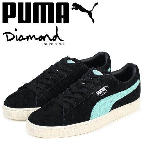 PUMA プーマ スエード スニーカー メンズ ダイヤモンドサプライ SUEDE DIAMOND コラボ 365650-01 ブラック [予約商品 3/15頃入荷予定 新入荷]