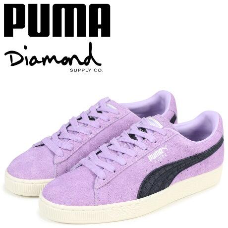 PUMA プーマ スエード スニーカー メンズ ダイヤモンドサプライ SUEDE DIAMOND コラボ 365650-02 パープル [予約商品 3/15頃入荷予定 新入荷]