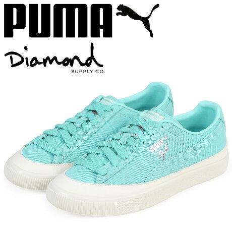 プーマ PUMA クライド スニーカー メンズ ダイヤモンドサプライ CLYDE DIAMOND コラボ 365651-01 ブルー [予約商品 3/15頃入荷予定 新入荷]