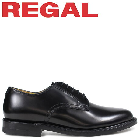 リーガル 靴 メンズ REGAL プレーントゥ ビジネスシューズ 日本製 ブラック 2504NA