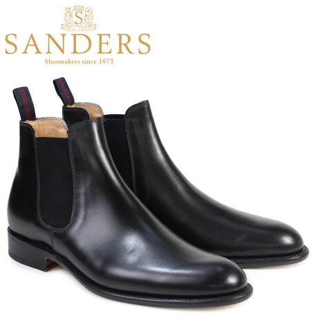 SANDERS 靴 サンダース ミリタリー サイドゴア ブーツ ビジネス BUCHAREST 1554B メンズ チェルシーブーツ ブラック [予約商品 3/22頃入荷予定 再入荷]