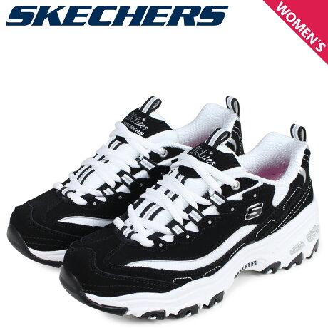 SKECHERS スケッチャーズ ディライト スニーカー レディース ディーライト D LITES BIGGEST FAN ブラック 黒 11930