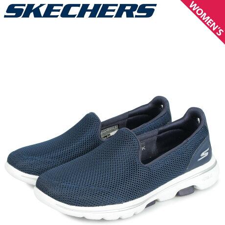 スケッチャーズ SKECHERS ゴーウォーク 5 スリッポン スニーカー レディース GO WALK 5 ネイビー 15901 [10/3 新入荷]
