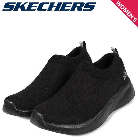 スケッチャーズ SKECHERS ボブズ スリッポン スニーカー レディース BOBS SPORT ARIA CAMP VELVET ブラック 黒 32824 [10/3 新入荷]