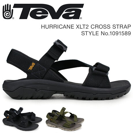 Teva テバ サンダル メンズ ハリケーン XLT2 HURRICANE CROSS STRAP ブラック ダークオリーブ 1091589