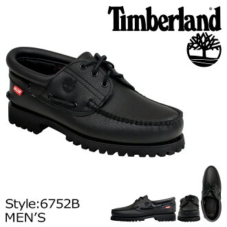 Timberland Timberland men's ICON 3 EYE CLASSIC LUG deck shoes icon 3-hole classic lug 6752B black [10/6 new in stock]