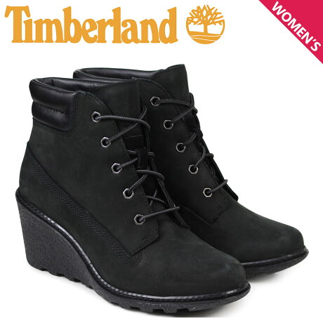 Timberland レディース ブーツ 6インチ ティンバーランド AMSTON 6INCH BOOTS 8253A Wワイズ ブラック [予約商品 3/14頃入荷予定 新入荷]