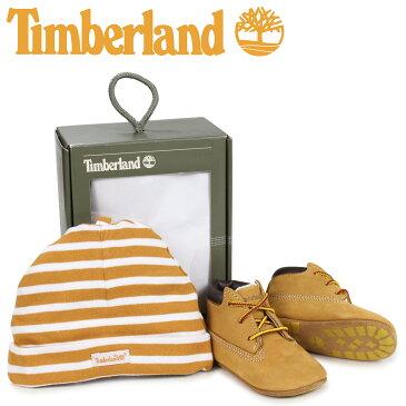【最大600円OFFクーポン】Timberland ティンバーランド ブーツ シューズ キャップ 帽子 ニット帽 セット キッズ ベビー INFANT CRIB BOOTIES CAP SET ギフト ウィート ベージュ 9589R