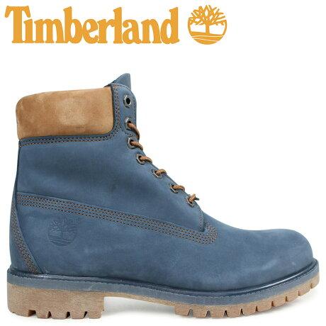 ティンバーランド ブーツ メンズ 6インチ Timberland 6INCH PREMIUM BOOT A1LU4 Wワイズ プレミアム 防水 ネイビー [予約商品 2/19頃入荷予定 新入荷]
