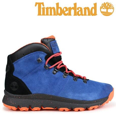 ティンバーランド ブーツ メンズ Timberland WORLD HIKER A1RFR Wワイズ ブルー [予約商品 9/5頃入荷予定 新入荷]