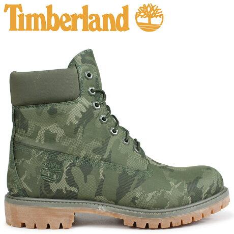 ティンバーランド ブーツ メンズ 6インチ Timberland 6-INCH PREMIUM FABRIC BOOTS A1U9I Wワイズ ダークグリーン [9/5 新入荷]