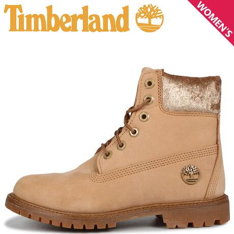 ティンバーランド Timberland ブーツ 6インチ ウォータープルーフ レディース WOMENS ICON 6INCH F/L WATERPROOF BOOTS ベージュ A21XE [9/30 新入荷]