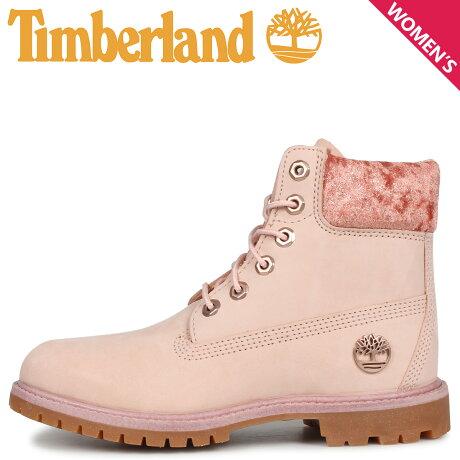 ティンバーランド Timberland ブーツ 6インチ ウォータープルーフ レディース WOMENS ICON 6INCH F/L WATERPROOF BOOTS ピンク A24K6 [9/30 新入荷]