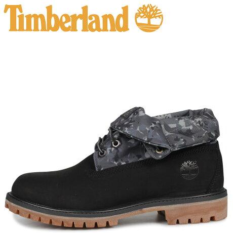 ティンバーランド Timberland ブーツ プレミアム ロールトップ メンズ PREMIUM ROLL TOP BOOT カモ柄 ブラック 黒 A2BWU [予約商品 9/30頃入荷予定 新入荷]