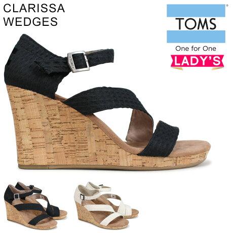 TOMS SHOES トムス シューズ レディース サンダル WOMEN'S CLARISSA WEDGES トムス トムズシューズ [予約商品 6/27頃入荷予定 新入荷]