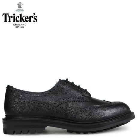 トリッカーズ Tricker's ウイングチップ シューズ ILKLEY 5ワイズ メンズ ブラック 3087 [予約商品 10/18頃入荷予定 追加入荷]