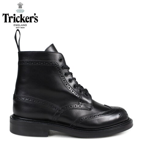 トリッカーズ Tricker's レディース カントリーブーツ STEPHY L5676 4ワイズ ブラック [予約商品 10/18頃入荷予定 追加入荷]