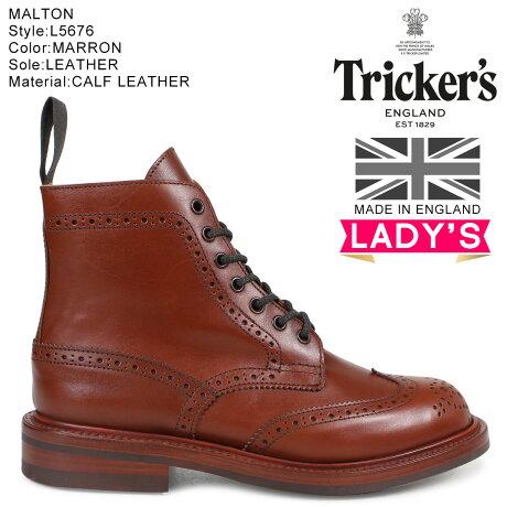 トリッカーズ Tricker's レディース カントリーブーツ STEPHY L5676 4ワイズ ダークブラウン [予約商品 10/18頃入荷予定 追加入荷]