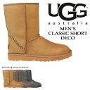 アグ UGG メンズ クラシック ショート ムートンブーツ MENS CLASSIC SHORT DECO 1007307 シープスキン