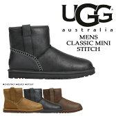UGG アグ メンズ クラシック ミニ ムートンブーツ MENS CLASSIC MINI STITCH 1008621 レザー