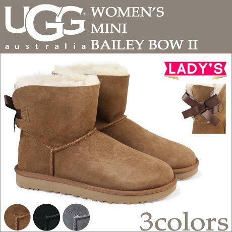 UGG アグ ムートンブーツ ベイリーボウ 2 ミニ レディース WOMENS MINI BAILEY BOW II 1016501