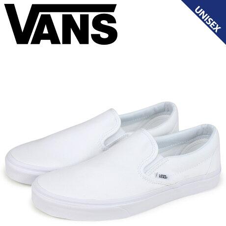 VANS スリッポン スニーカー メンズ バンズ ヴァンズ CLASSIC SLIP-ON VN000EYEW00 ホワイト [予約商品 10/2頃入荷予定 新入荷]