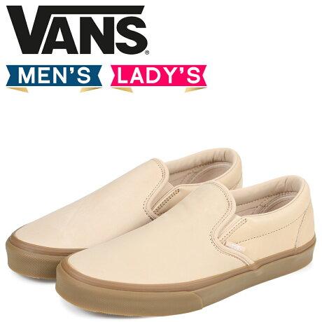 VANS スリッポン スニーカー メンズ レディース バンズ ヴァンズ CLASSIC SLIP-ON DX VN0A38F8QU7 ベージュ [7/4 追加入荷]