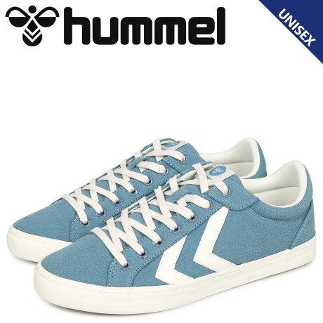 ヒュンメル hummel デュース コート スニーカー メンズ レディース DEUCE COURT ブルー HM206425-7487 [予約 2/4 追加入荷予定]