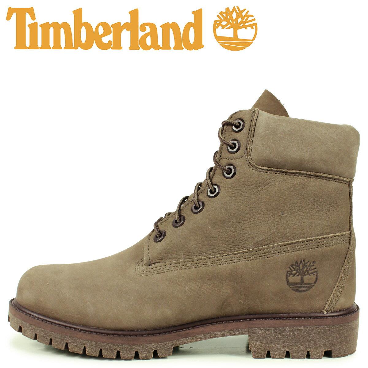 Timberland ティンバーランド ブーツ 6インチ ウォータープルーフ メンズ 6INCH WATERPROOF BOOTS オリーブ A24W3画像