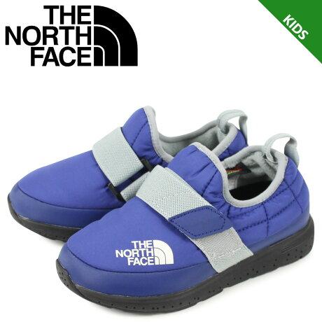 THE NORTH FACE ノースフェイス ヌプシ トランクション ライト モック シューズ スリッポン キッズ K NUPTSE TRACTION LITE MOC ブルー NFJ51982