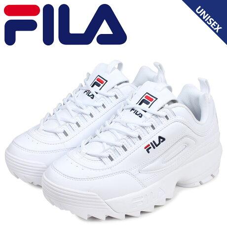 フィラ FILA フィラ ディスラプター2 スニーカー メンズ レディース 厚底 DISRUPTOR 2 ホワイト 白 1FM00864-121 [予約 2/18 新入荷予定]