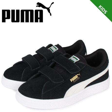 プーマ PUMA スウェード 2ストラップ スニーカー キッズ KIDS SUEDE 2 STRAP ブラック 黒 359595-01 [予約 2/7 新入荷予定]
