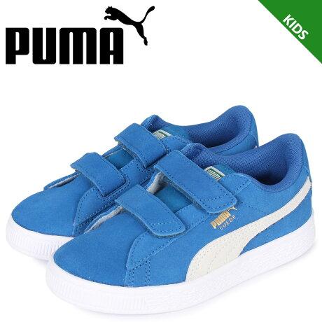 プーマ PUMA スウェード 2ストラップ スニーカー キッズ KIDS SUEDE 2 STRAP ブルー 359595-02 [予約 1/31 新入荷予定]