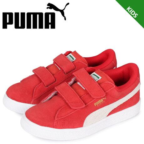 プーマ PUMA スウェード 2ストラップ スニーカー キッズ KIDS SUEDE 2 STRAP レッド 359595-03 [予約 1/31 新入荷予定]
