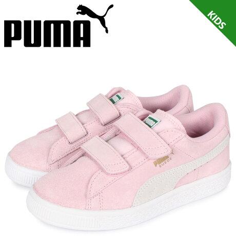 プーマ PUMA スウェード 2ストラップ スニーカー キッズ KIDS SUEDE 2 STRAP ピンク 359595-23 [予約 2/7 新入荷予定]