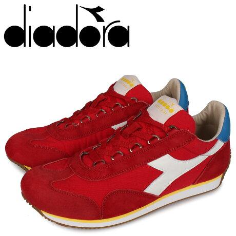 ディアドラ Diadora エキップ スニーカー メンズ EQUIPE H CANVAS STONE WASH レッド 174735-5041 [予約 3/2 新入荷予定]