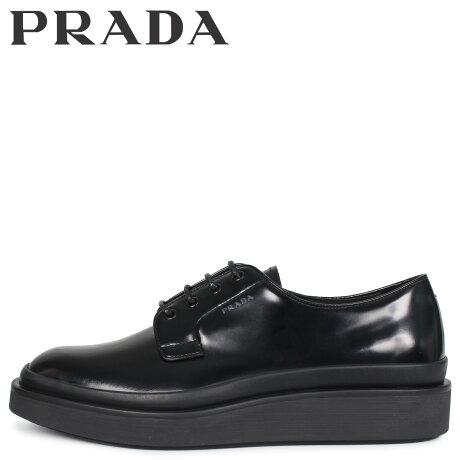 プラダ PRADA シューズ ビジネスシューズ メンズ HIGH SOLE LACE UP ブラック 黒 2EE311 [予約 3/3 新入荷予定]