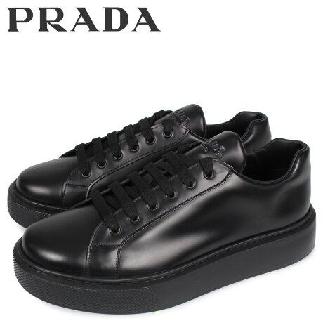 プラダ PRADA スニーカー メンズ NEW sugarltdER FONDO CASSETTA ブラック 黒 4E3489 [予約 3/3 新入荷予定]