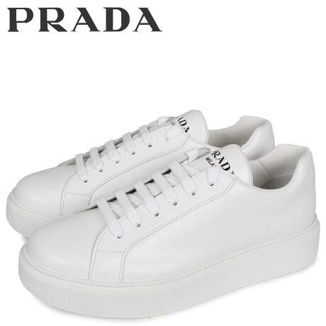 プラダ PRADA スニーカー メンズ NEW sugarltdER FONDO CASSETTA ホワイト 白 4E3489 [予約 3/3 新入荷予定]