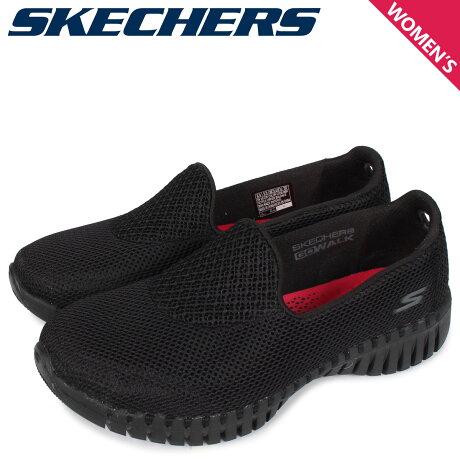 スケッチャーズ SKECHERS ゴーウォーク スマート スリッポン スニーカー レディース GO WALK SMART ブラック 黒 16700 [予約 3/3 新入荷予定]