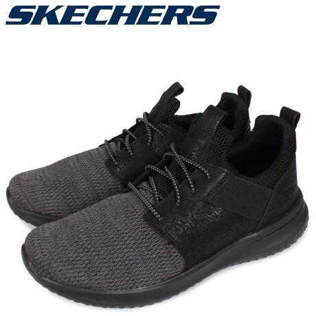 スケッチャーズ SKECHERS デルソン スリッポン スニーカー メンズ DELSON ブラック 黒 65474 [予約 3/3 新入荷予定]