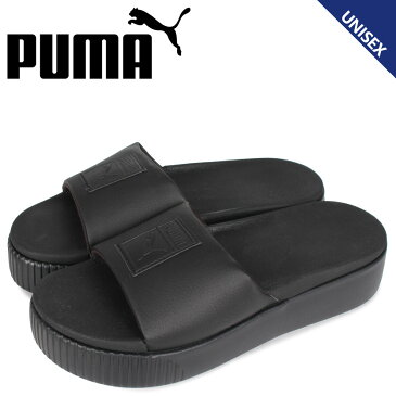 PUMA プーマ プラットフォーム スライド サンダル スライドサンダル メンズ レディース 厚底 PLATFORM SLIDE ブラック 黒 36612110