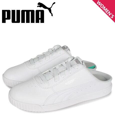 PUMA プーマ キャリーナ スリム ミュール スニーカー サンダル レディース CARINA SLIM MULE ホワイト 白 37113702