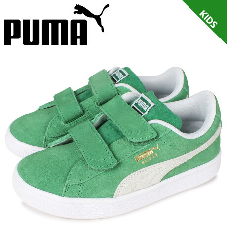 PUMA プーマ スウェード チームス V PS スニーカー キッズ SUEDE TEAMS V PS グリーン 380567-02 [予約 2月下旬 新入荷予定]