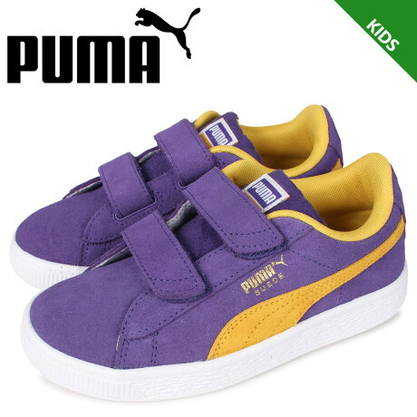PUMA プーマ スウェード チームス V PS スニーカー キッズ SUEDE TEAMS V PS パープル 380567-03 [予約 2月下旬 新入荷予定]