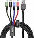 【送料無料】 Baseus ベースアス iphone Type-C Micro USB 4in1 充電ケーブル 1.2m CA1T4-A01 ライトニングケーブルLightning iPhone iPad Galaxy Huawei Macbook