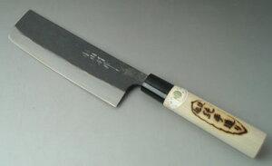 菜切り包丁・青紙鍛造(両刃作りですから、左利きの方でもOKです。)