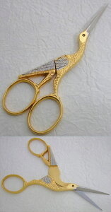 鶴刺繍バサミモノポール3,5