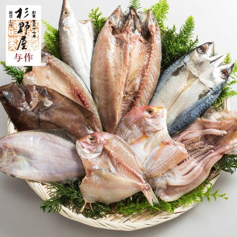 能登ちょっこり干し【石川県産 干物】いしる仕込みの干物 真いか かます 赤かれい さば れんこ鯛