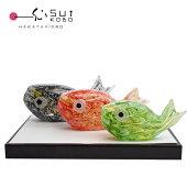 2020年鯉のぼりセット安部朝和作端午の節句にぴったりのガラスの鯉のぼり
